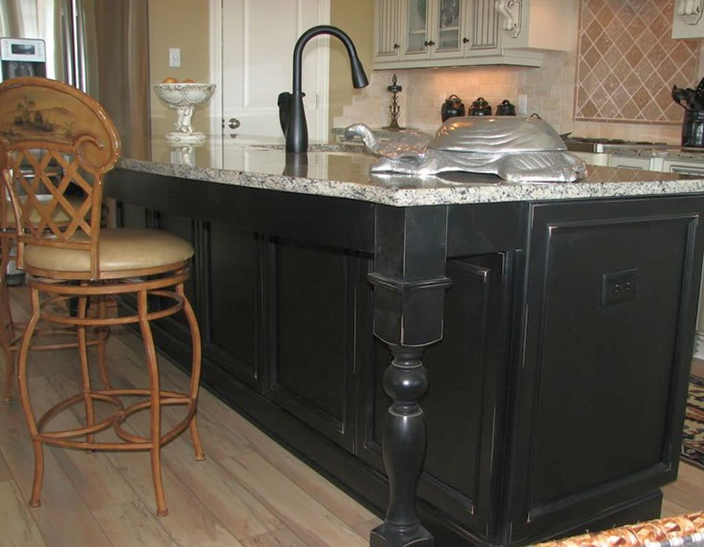 Kitchen island with sink with silver turtle decoration - Kitchen sinks austin tx ...