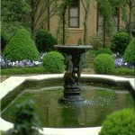 landscape fountain design ideas for side yard