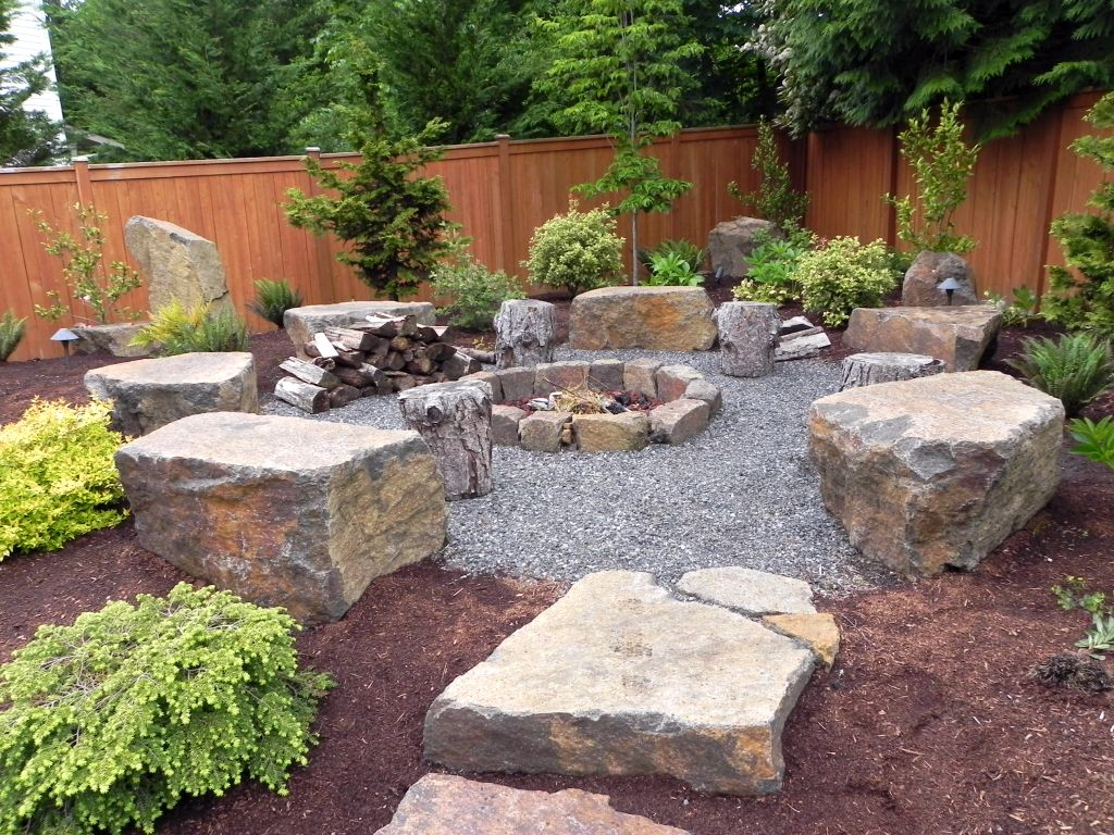 20 landscaping designs with big rocks you must copy - Landscaping with large rocks ...