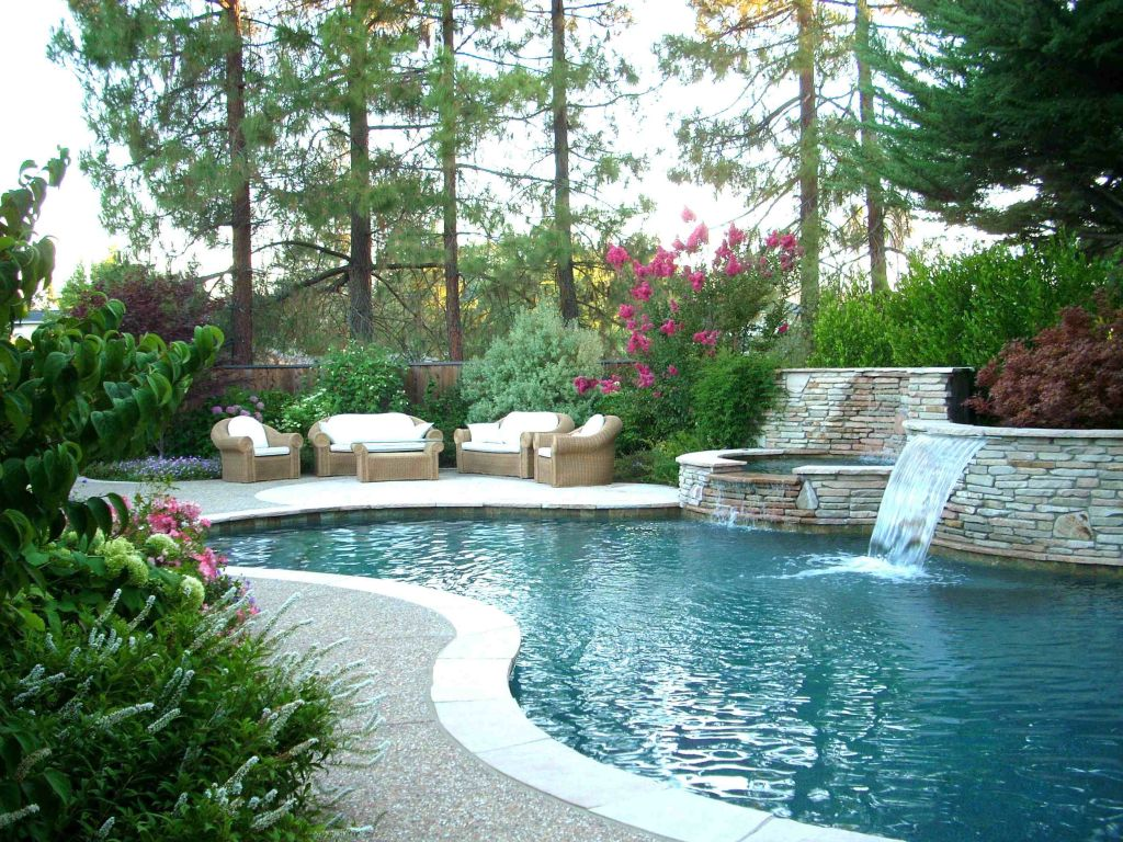 20 landscaping designs with big rocks you must copy for Pool design must haves
