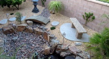 landscaping designs with big rocks with faux pond