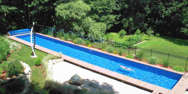 lap pool Backyard pool designs
