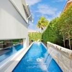 lap pool designs for narrow side yard