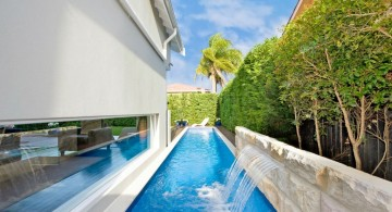 lap pool designs for narrow side yard