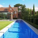 lap pool designs in an estate