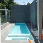 lap pool designs with concrete columns