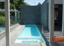 lap pool designs with concrete columns