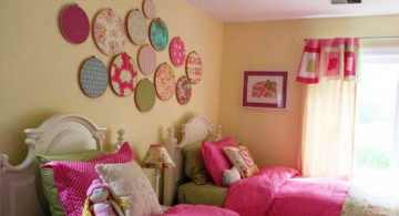 large round frames diy bedroom art