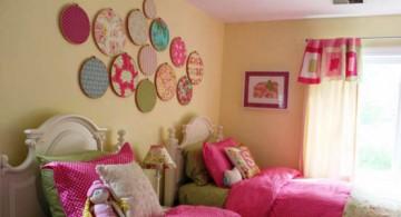large round frames diy bedroom art