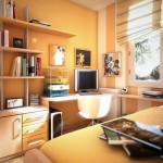 light orange small teenage rooms ideas