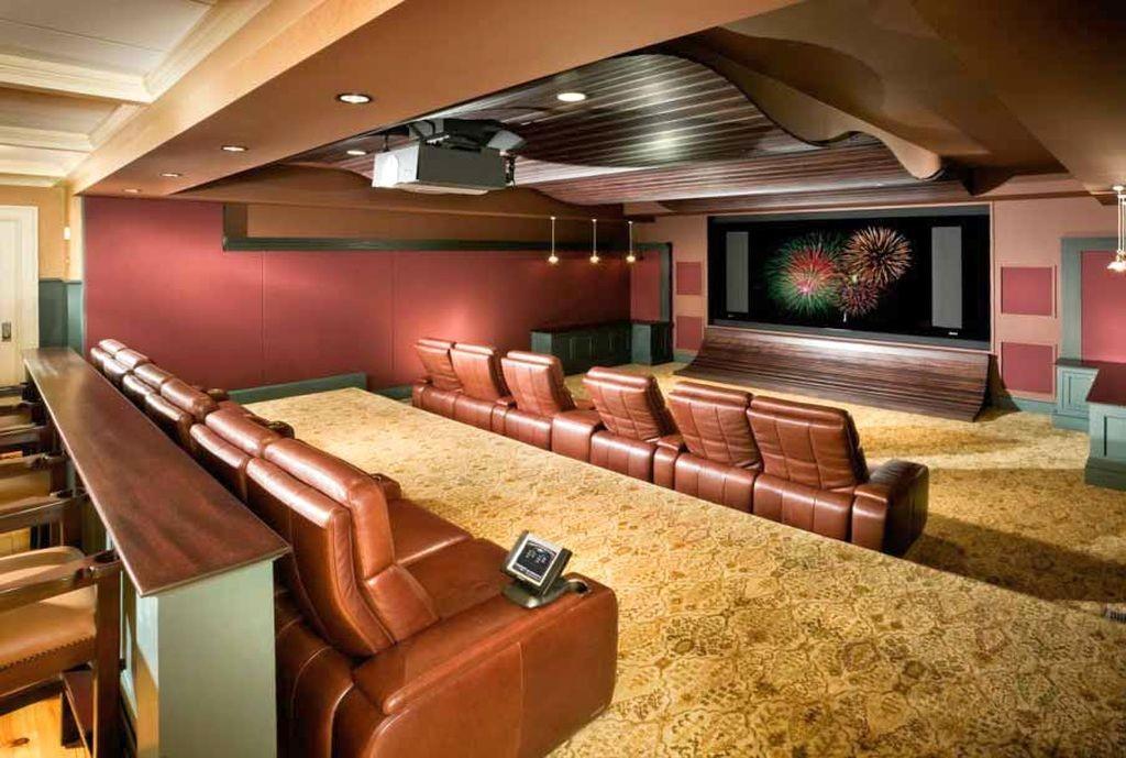 lighting ideas for basement as cinema and mini bar
