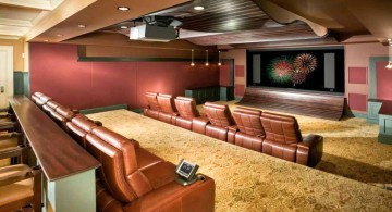 lighting ideas for basement as cinema and mini bar