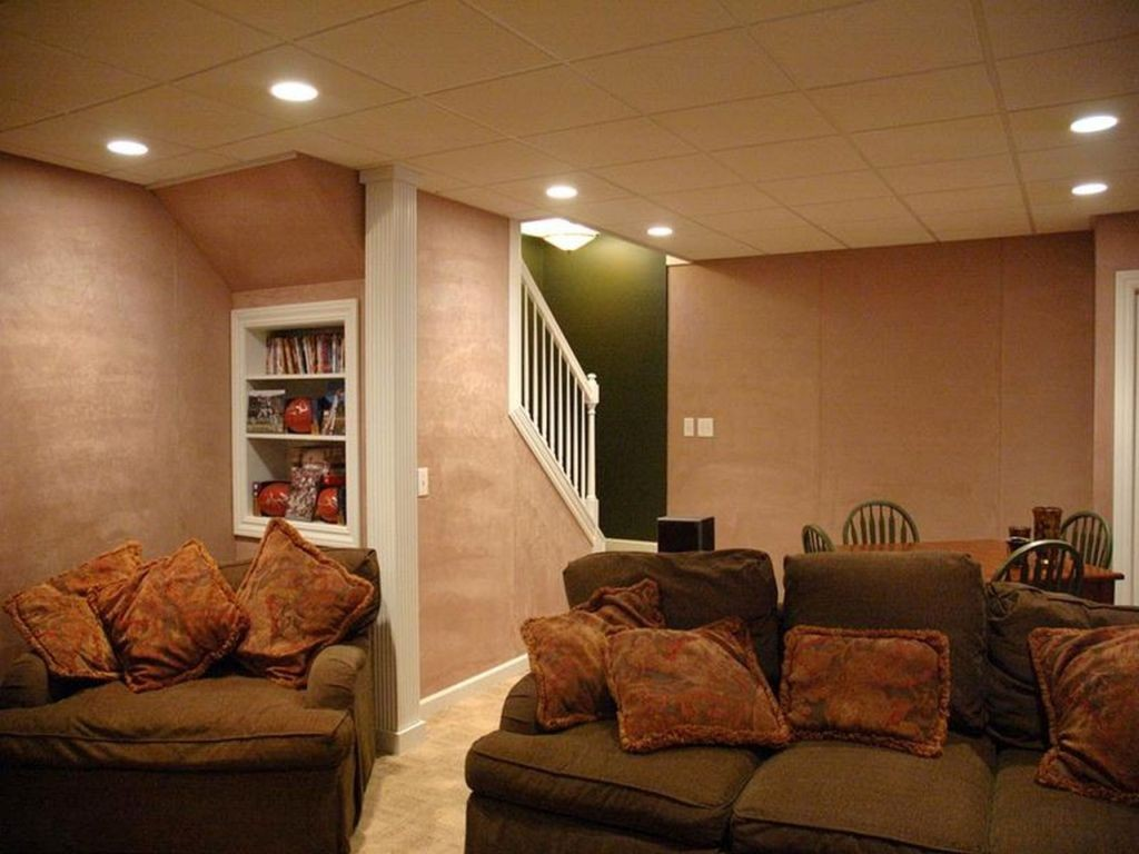 18 lighting ideas for basement to provide spacious feeling for Basement room