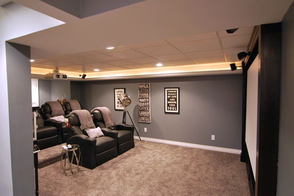 Lighting Ideas For Basement As Home Theatre Custom Basement Home Theater Design Ideas Property