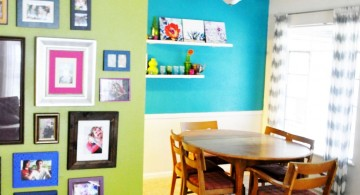 lime green accent walls