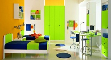 lime green accent walls for kids bedroom