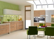 lime green accent walls for room with skylight