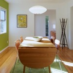 lime green accent walls for small dining room