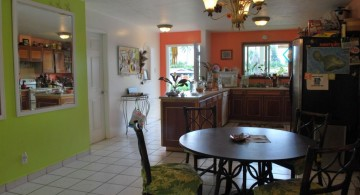 lime green accent walls for small houses