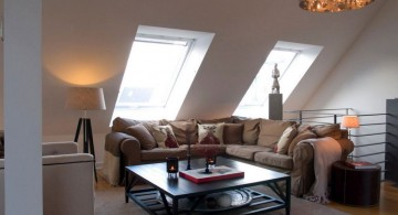 living room with skylight ideas for attic living room