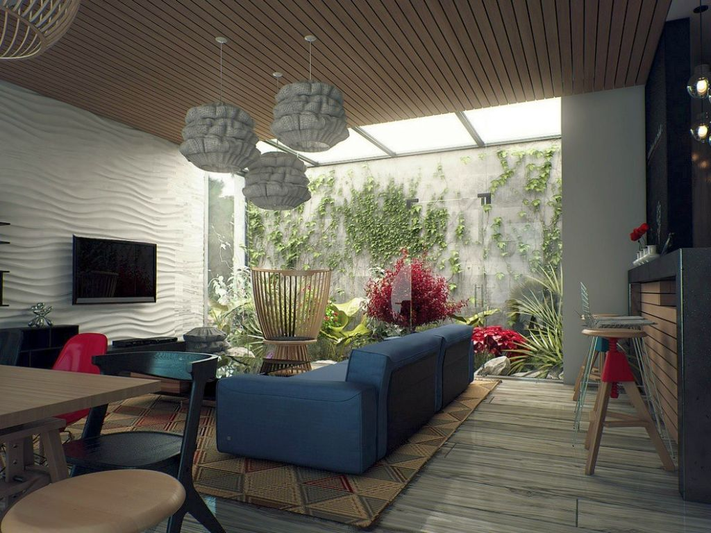 Inside Garden Ideas Living room with skylight ideas with connected inside garden workwithnaturefo