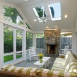living room with skylight ideas with fireplace