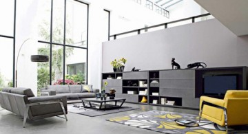 living room with skylight ideas with modern furnitures
