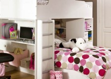 loft bed with desk white for small room