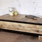 low with two side drawers wood coffee table designs