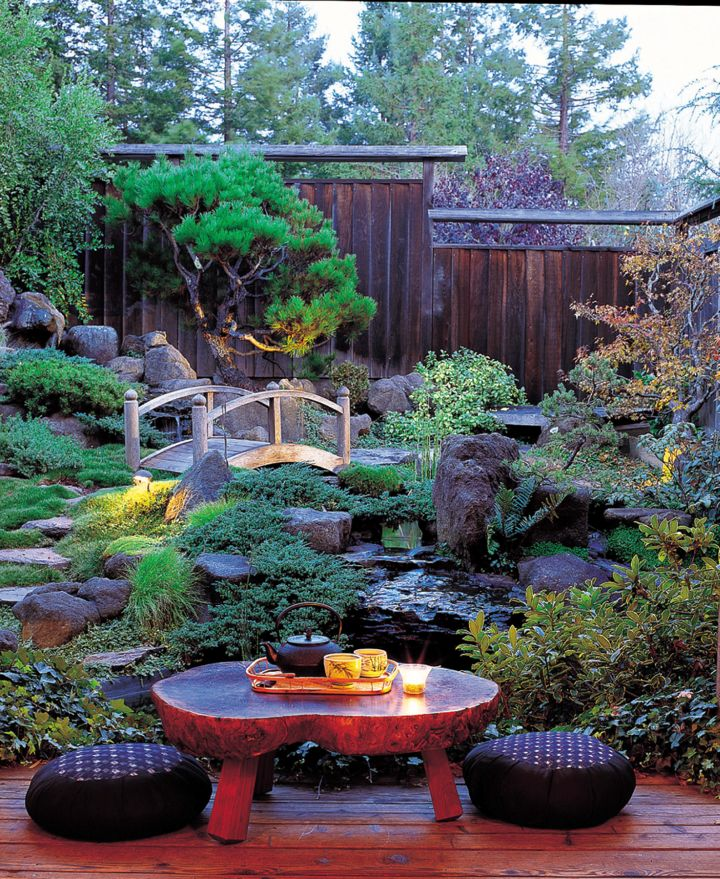 17 peaceful green japanese style backyards for Japanese style landscaping