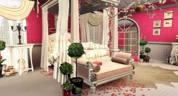 luxurious bedroom decoration for valentines day