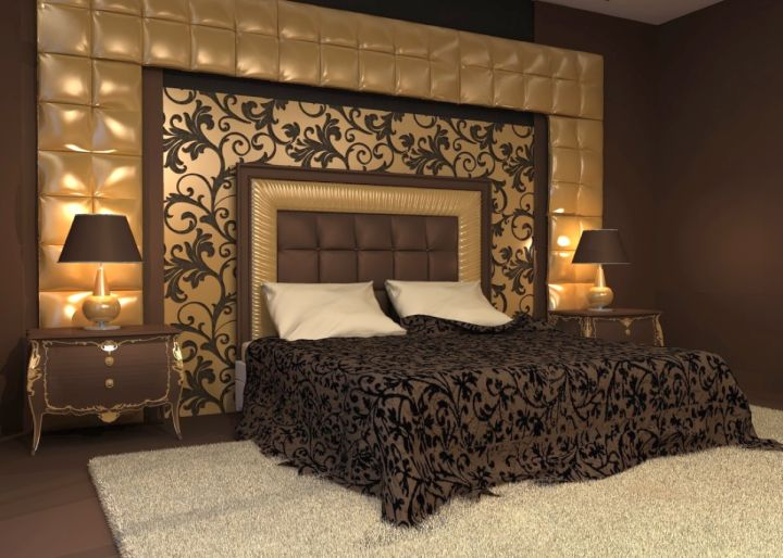 Luxurious In Black And Gold Bedroom Wall Panel Design Ideas Beauteous Bedroom Wall Design Ideas