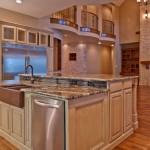 luxurious kitchen island with sink