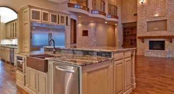 luxurious kitchen island with sink