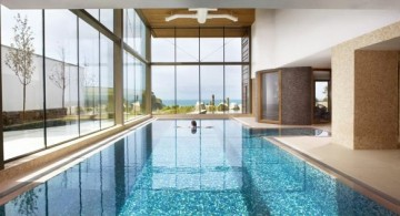 luxurious lap pool for indoor swimming pool