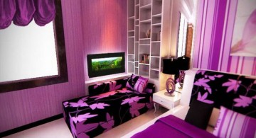 luxurious teenage girls room inspiration designs in purple