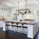 luxurious white kitchen island with sink