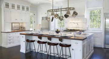 luxurious white kitchen island with sink