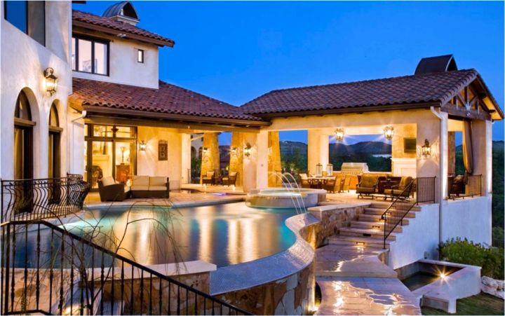 luxury above ground Backyard pool designs