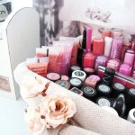 make up storage cabinet ideas for lipsticks using old basket