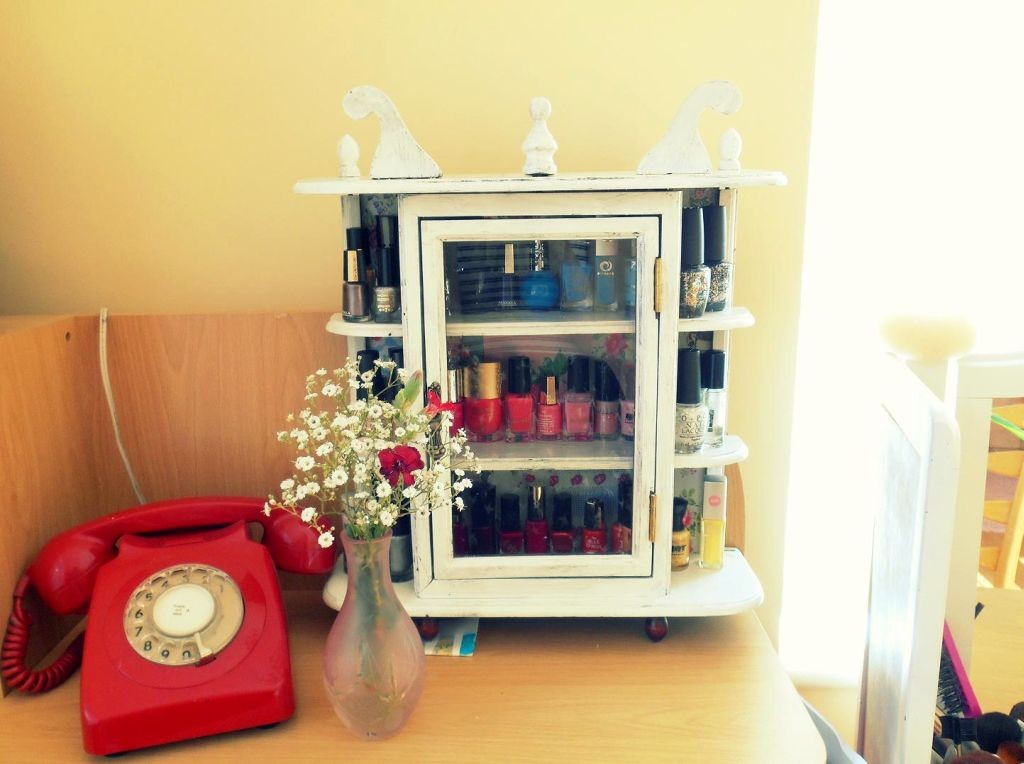 make up storage cabinet ideas for nail polish