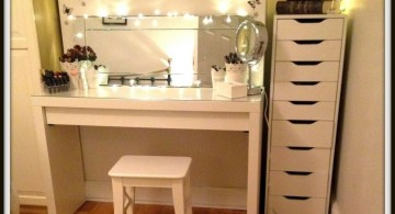 make up storage cabinet ideas for small space in the corner