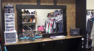 make up storage cabinet ideas in sleek black