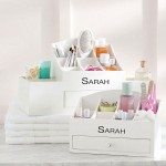 make up storage cabinet ideas with monogram