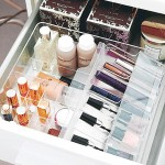 make up storage cabinet ideas with short drawers