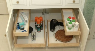 make up storage cabinet ideas with tiered drawers