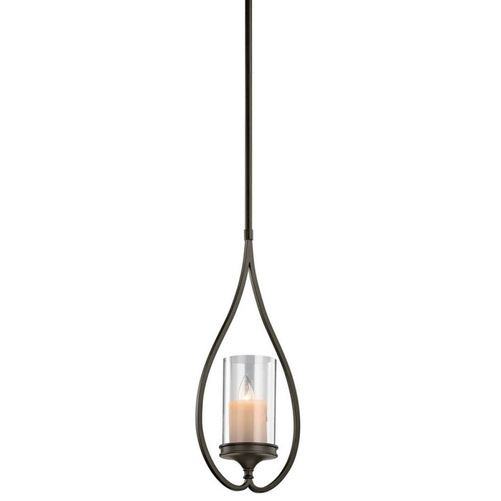 making a pendant light classy with faux candle
