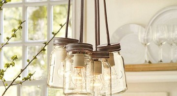 making a pendant light with mason jars