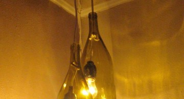 making a pendant light with used wine bottle
