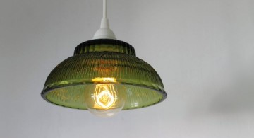 making a pendant light with vintage green bowl